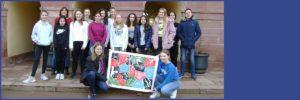 Hornbergschüler zum Kunstworkshop auf Schloss Rotenfels