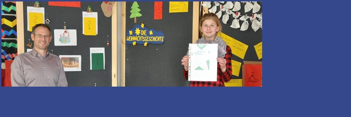 Linda Markovic aus der R6a ist die Schulsiegerin